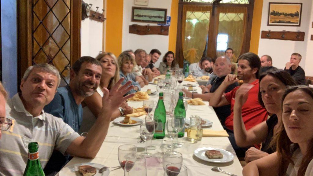 repas de groupe à Portofino
